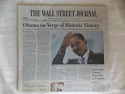 BARACK OBAMA - THE WALL STREET JOURNAL 2008 - Complete Newspaper and Never Read