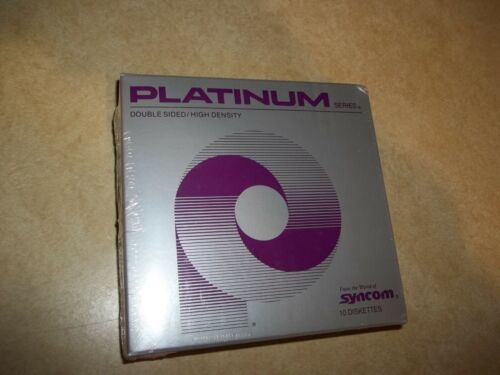 PLATINUM Series double sided high density 2S/HD 10 diskettes Syncom NEW 5.25""