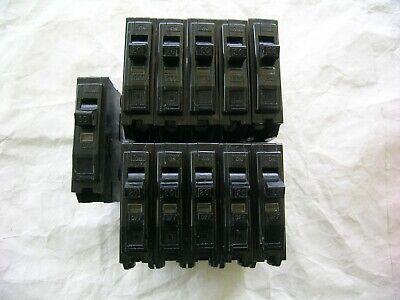 Lot Of 11 Square D Qo Circuit Breakers Single Pole 10-20 Amp 1-30 Amp Plug In