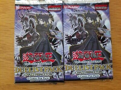YuGiOh - 2x Sealed Packs - Duelist Pack Chazz Princeton 1st Edition - New
