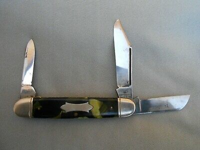 OLD VINTAGE CAMILLUS CUTLERY CO CAMILLUS NY USA CATTLE OR STOCKMAN KNIFE 4 LINE