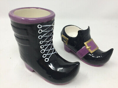 Yankee Candle Witch Shoe and Boot Votive Candle Holder Purple and Black