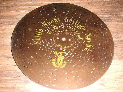Stille Nacht heilige Nacht Polyphon Platte 24,3cm Spieluhr christmas 9 1/2