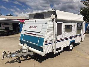 OLYMPIC 1000 POP TOP 15ft CARAVAN WITH ISLAND BED AND AIR-CONDITI Clontarf Redcliffe Area Preview