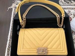 Chanel Boy Handbag Yellow - $5,900 No PayPal Excellent condition Yell