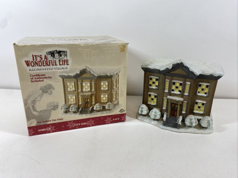 ENESCO IT'S A WONDERFUL LIFE VILLAGE  City Hall Series 2 With Box