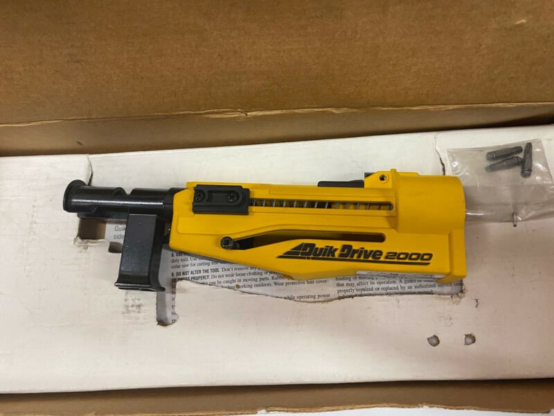 Quick Drive 2000 Auto Feed Screw Gun Driver System ScrewDriver Attachment