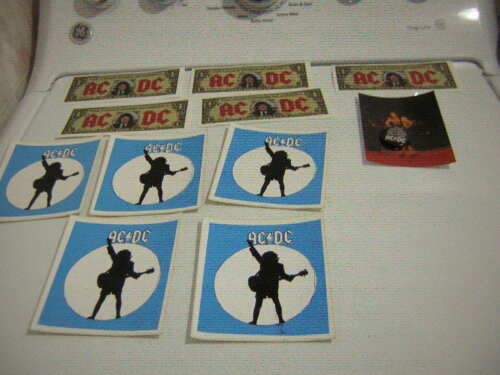 AC/DC MONEYTALKS DOLLAR BILL LOT OF 5 MONEY PROPS W/ UNPUB PHOTOS ANGUS YOUNG