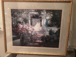 31 1/2x371/2 Cottage Walkway painting