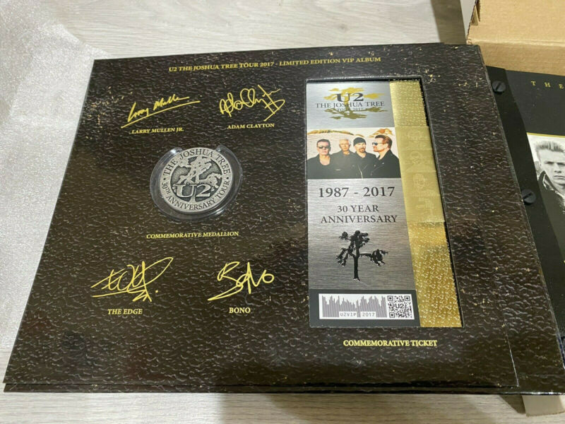 U2 Joshua Tree 2017 Tour Limited Edition VIP Book w/Harmonica & COA