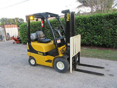 Yale Glp035vx 3500 Lb Forklift Propane Side Shift - Lift 127 644 Hrs Phenmatic