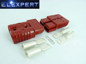 ANDERSON-PLUG-175-AMP-BATTERY-CONNECTOR-JUMP-START-SLAVE-ASSIST-PAIR-RED