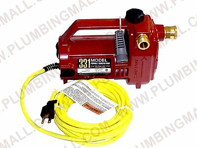 Portable Water Transfer Pump - Liberty Pumps 331 - 12 Hp - Garden Hose Bib