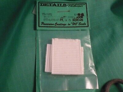 Details West HO #1002 Youngstown 8' Panel Door Athearn 50' DD Box -