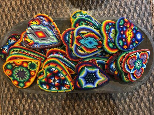 Tatehuari Heart Huichol Art Mexican Hand Beaded Crafts