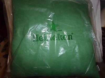 HEINEKEN BEER GREEN PILLOW MAN CAVE 17 X 17