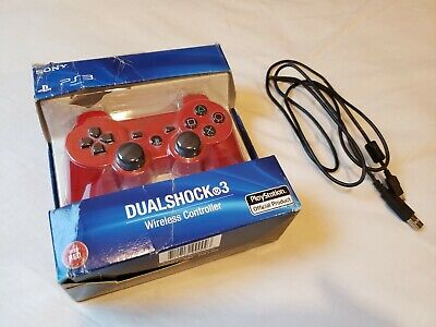 Sony PlayStation 3 PS3 Dualshock 3 Sixaxis Wireless Controller Deep Red