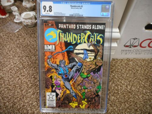 Thundercats 3 cgc 9.8 Marvel Star 1986 Panthro cover NM MINT WHITE pgs TV movie