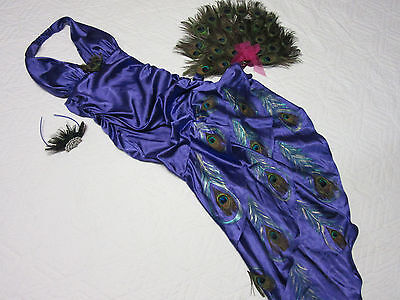 PEACOCK fairy dress COSTUME size 7  9 unique tail hand made cosplay fantasy OOAK - Handmade Peacock Costume