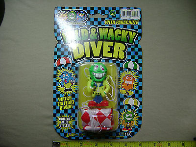 Green Wild & Wacky Diver Parachute Guy (NEW) Toy Man Party Favor