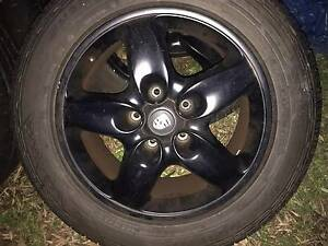 """4x Genuine Porsche Cayenne 18"""" BLACK with Good Continental tyres Blakehurst Kogarah Area Preview"""
