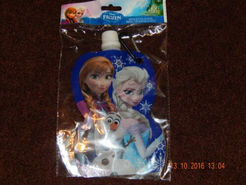 DISNEY FROZEN ANNA ELSA OLAF WATER BOTTLE CONTAINER WITH KEYRING 230 ML NWT