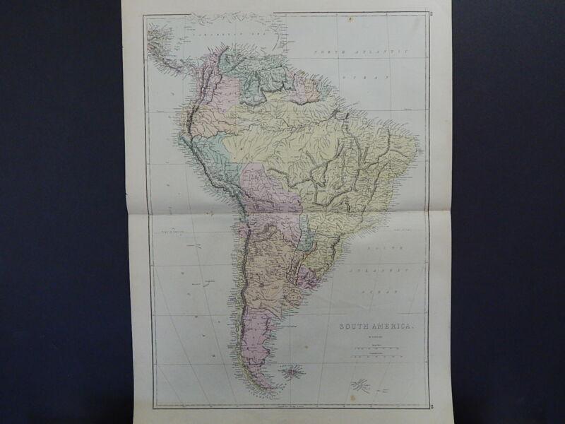 Antique Map, 1875, South America