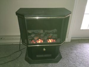Beautiful electric heater wood stove style