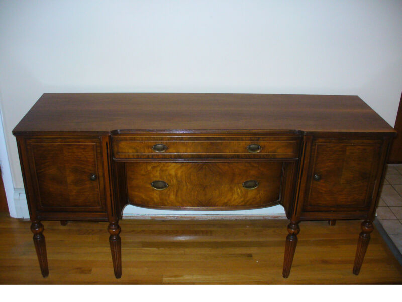 Vintage Elegant Walnut Sideboard