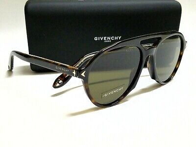 Authentic GIVENCHY GV7076S 086/70 Havana/Brown Lens 56mm Aviator (Givenchy Men Sunglasses)