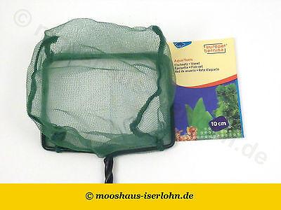 Fischfangnetz fein 10 x 8cm grün Aquarium Kescher Garnelenkescher