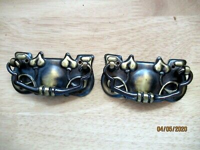 GENUINE PAIR ART NOUVEAU /ARTS AND CRAFTS DRAWER PULL HANDLES. SUPERB CONDITION