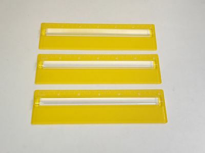 3 Lot Ruler With 2x Raised Magnifier 6 Inch Yellow 116 Graduation