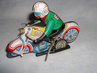 Dachbodenfund - Blechspielzeug Motorrad MS-702, Uhrwerk ok., Made in China
