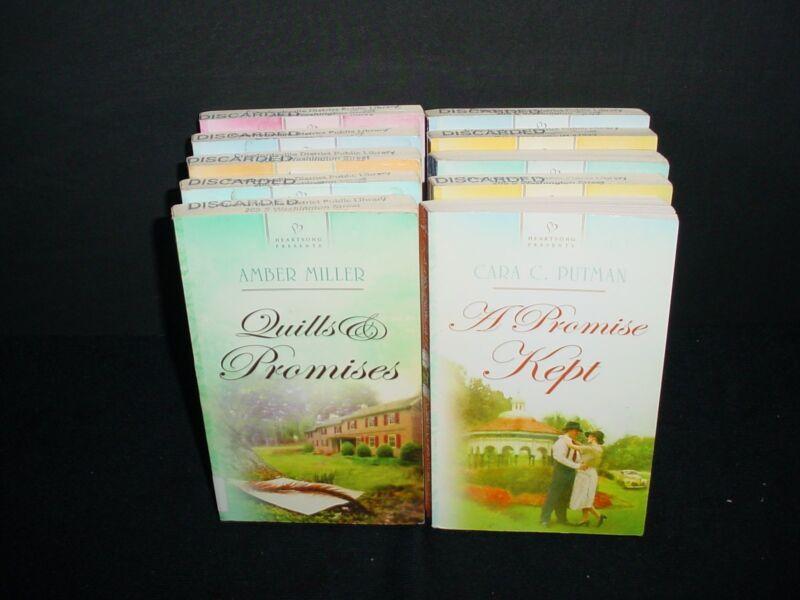 Lot of 10 Heartsong Presents Romance Paperback Books Pb Novels