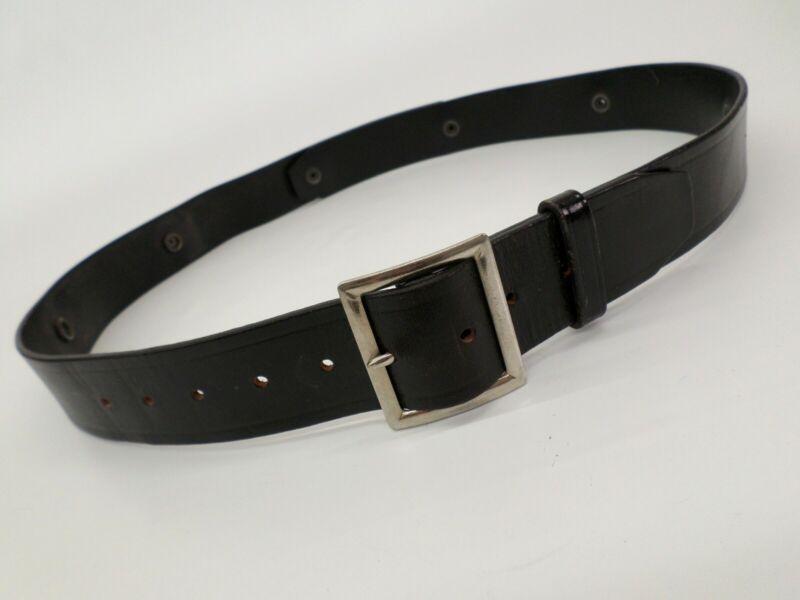 Leather Garrison Belt 32-48 Police Security Black