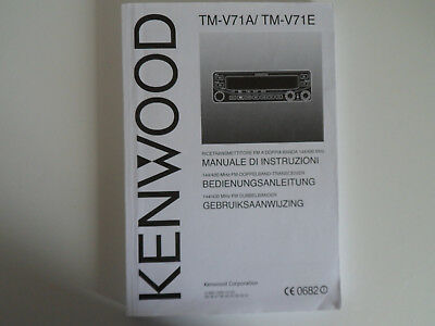 KENWOOD TM-V71A/E (ITALIAN) (GENUINE MANUAL ONLY)......RADIO_TRADER_IRELAND. segunda mano  Embacar hacia Argentina