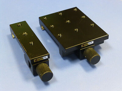 Lot Of 2 - Optosigma Optical Rail Carrier For 50mm Wide Rail