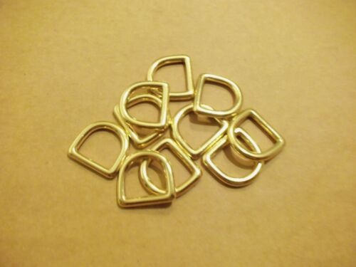 "3/4"" Solid Brass Cast D Rings (Pack Of 10)"