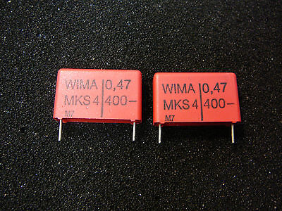 Wima Mks-4 0.47uf 400v 10 Metallized Polyester Capacitor New Qty.2