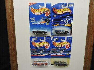 Hot Wheels Pontiac Banshee Concept Car Lot of 4 - Blue Orange Purple & Black