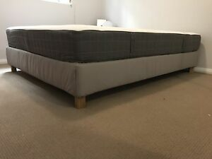 Queen mattress + bed base IKEA /  ALMOST NEW - PERFECT CONDITION Bondi Eastern Suburbs Preview