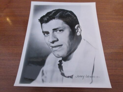 """JERRY LEWIS 8"""" X 10"""" GLOSSY BLACK AND WHITE PUBLICITY PHOTOGRAPH"""