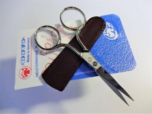 """DOVO 270- 3.5"""" EMBROIDERY NEEDLEPOINT SEWING SCISSOR Fine Point-GERMANY w/sheath"""