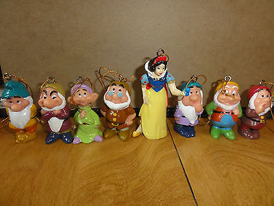 Disney Snow White & The Seven Dwarfs Christmas Ornaments, Brand New!