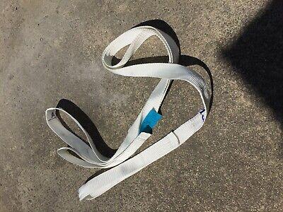 Web Lifting Sling Tow Strap - Flat Eye Eye 2 Wide  1600 Lb