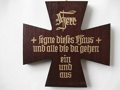 Blessing Wood Wooden 12 cm No. Hs / a Dark Segenskreuz cross with Saying