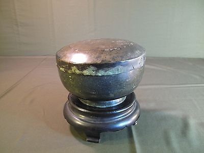 Fine Korean Koryo Dynasty Bronze Bowl with Lid