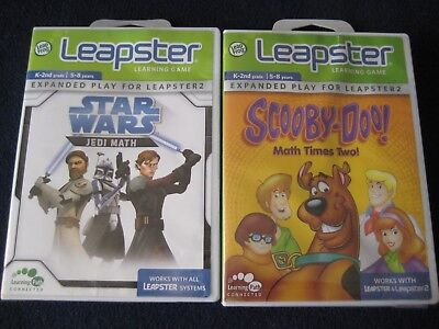 LeapFrog Leapster / Leapster2 Learning Games: Star Wars Jedi Math & Scooby Doo!
