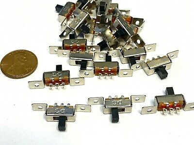 25 Pieces 3 Pin 2 Position 1p2t Spdt Panel Slide Switch 50v Dc Ss12f48 Pcb C41